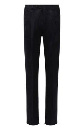 Мужские шерстяные брюки CORNELIANI темно-синего цвета, арт. 885B11-1817293/02 | Фото 1