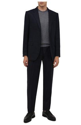 Мужские шерстяные брюки CORNELIANI темно-синего цвета, арт. 885B11-1817293/02 | Фото 2