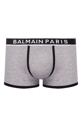 Мужские хлопковые боксеры BALMAIN серого цвета, арт. BRLD55200 | Фото 1
