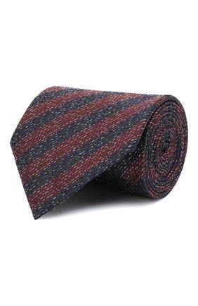 Мужской шелковый галстук ERMENEGILDO ZEGNA бордового цвета, арт. Z2D25T/1XW | Фото 1 (Материал: Текстиль, Шелк; Принт: С принтом)