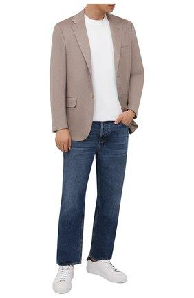 Мужской кашемировый пиджак KITON бежевого цвета, арт. UG81K0127A   Фото 2