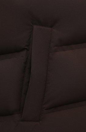 Мужской двусторонний жилет KIRED коричневого цвета, арт. WPEKT0W6806527000/62-74   Фото 5 (Кросс-КТ: Куртка, Пуховик; Материал внешний: Синтетический материал; Материал подклада: Синтетический материал; Длина (верхняя одежда): Короткие; Материал утеплителя: Пух и перо; Стили: Кэжуэл)
