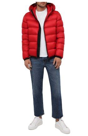 Мужские кожаные кеды KITON белого цвета, арт. USSK039N00445 | Фото 2 (Материал внутренний: Натуральная кожа; Подошва: Массивная)