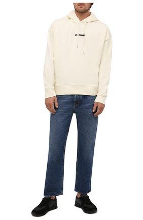 Мужские комбинированные кроссовки KITON черного цвета, арт. USSWINBN00697 | Фото 2 (Подошва: Массивная; Материал внутренний: Натуральная кожа; Стили: Классический)