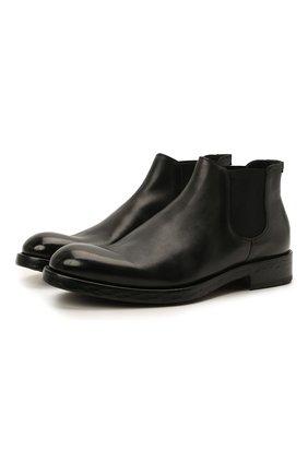 Мужские кожаные челси DOUCAL'S черного цвета, арт. DU2516KRUGUF188NN00 | Фото 1 (Материал внутренний: Натуральная кожа; Подошва: Плоская; Мужское Кросс-КТ: Сапоги-обувь, Челси-обувь)
