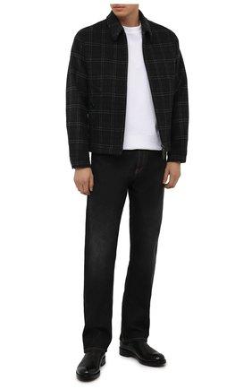 Мужские кожаные челси DOUCAL'S черного цвета, арт. DU2516KRUGUF188NN00 | Фото 2 (Материал внутренний: Натуральная кожа; Подошва: Плоская; Мужское Кросс-КТ: Сапоги-обувь, Челси-обувь)