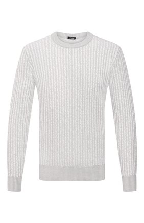 Мужской кашемировый свитер KITON светло-серого цвета, арт. UK1301   Фото 1