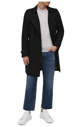 Мужской кашемировый свитер KITON светло-серого цвета, арт. UK1301   Фото 2