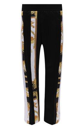 Мужские брюки VERSACE черного цвета, арт. 1001426/1A00679   Фото 1