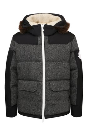 Мужская пуховая куртка robert MONCLER темно-серого цвета, арт. G2-091-1A001-29-595EL | Фото 1