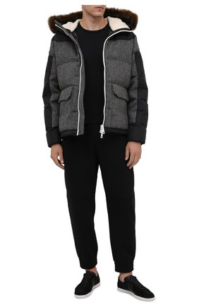 Мужская пуховая куртка robert MONCLER темно-серого цвета, арт. G2-091-1A001-29-595EL | Фото 2