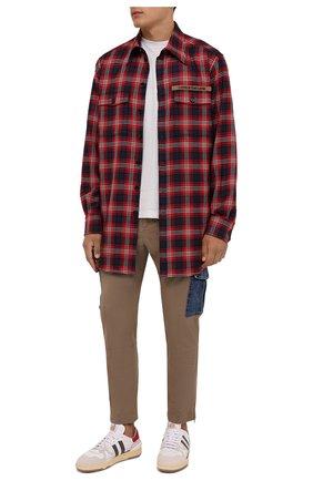 Мужские хлопковые брюки-карго DOLCE & GABBANA бежевого цвета, арт. GWTUEZ/GEM25 | Фото 2 (Длина (брюки, джинсы): Стандартные; Материал внешний: Хлопок; Случай: Повседневный; Силуэт М (брюки): Карго; Стили: Кэжуэл)