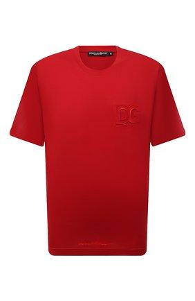 Мужская хлопковая футболка DOLCE & GABBANA красного цвета, арт. G8NB3Z/FU7EQ | Фото 1