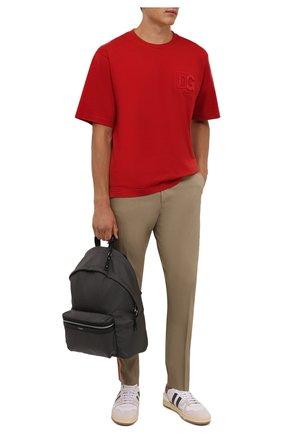 Мужская хлопковая футболка DOLCE & GABBANA красного цвета, арт. G8NB3Z/FU7EQ | Фото 2