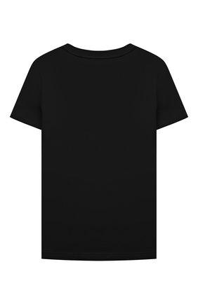 Детская хлопковая футболка GIVENCHY черного цвета, арт. H15214 | Фото 2