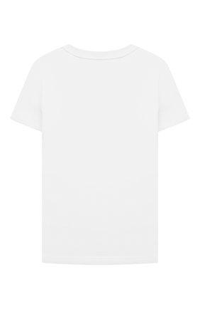 Детская хлопковая футболка GIVENCHY белого цвета, арт. H25301 | Фото 2