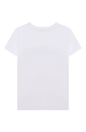 Детская хлопковая футболка GIVENCHY белого цвета, арт. H25283 | Фото 2