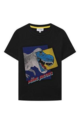 Детская хлопковая футболка MARC JACOBS (THE) черного цвета, арт. W25509 | Фото 1