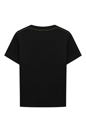 Детская хлопковая футболка MARC JACOBS (THE) черного цвета, арт. W25509 | Фото 2