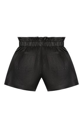 Детские кожаные шорты BRUNELLO CUCINELLI черного цвета, арт. BPTANP017A | Фото 2