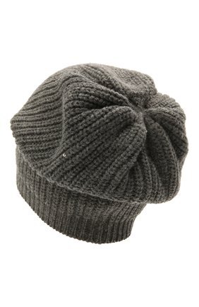 Детского шапка из шерсти и кашемира BRUNELLO CUCINELLI темно-серого цвета, арт. B9DM50299C | Фото 2