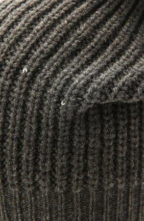 Детского шапка из шерсти и кашемира BRUNELLO CUCINELLI темно-серого цвета, арт. B9DM50299C   Фото 3 (Материал: Кашемир, Шерсть)