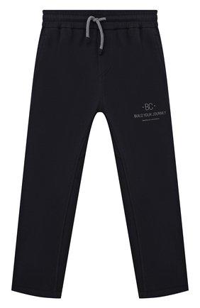 Детские хлопковые брюки BRUNELLO CUCINELLI темно-синего цвета, арт. BD847E318B | Фото 1 (Материал внешний: Хлопок; Мальчики Кросс-КТ: Брюки-одежда; Ростовка одежда: 10 - 11 лет | 140 - 146см, 8 лет | 128 см)