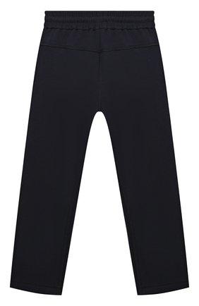 Детские хлопковые брюки BRUNELLO CUCINELLI темно-синего цвета, арт. BD847E318B | Фото 2 (Материал внешний: Хлопок; Мальчики Кросс-КТ: Брюки-одежда; Ростовка одежда: 10 - 11 лет | 140 - 146см, 8 лет | 128 см)