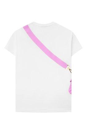 Детская хлопковая футболка FENDI белого цвета, арт. JFI242/7AJ/3A-6A | Фото 2
