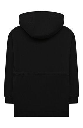 Детское хлопковое худи FENDI черного цвета, арт. JFH121/5V0/3A-6A | Фото 2