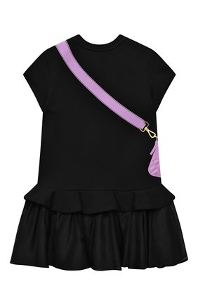 Детское хлопковое платье FENDI черного цвета, арт. JFB382/AG3Z/3A-6A | Фото 2