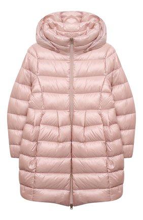 Детское пуховое пальто HERNO светло-розового цвета, арт. PI0115G/12017/4A-8A | Фото 1