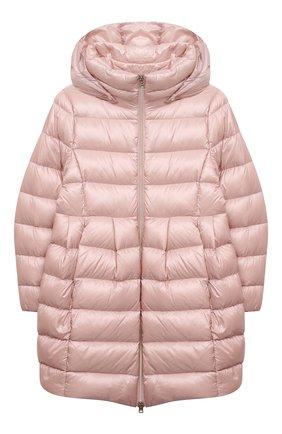 Детское пуховое пальто HERNO светло-розового цвета, арт. PI0115G/12017/10A-14A | Фото 1
