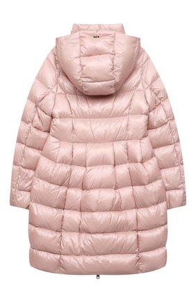 Детское пуховое пальто HERNO светло-розового цвета, арт. PI0115G/12017/10A-14A | Фото 2