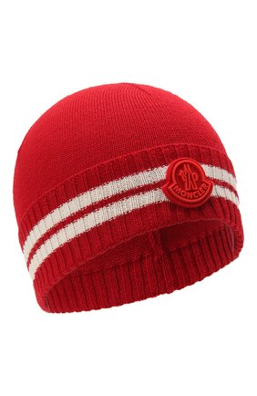 Детского шапка MONCLER красного цвета, арт. G2-954-9Z734-20-A9630 | Фото 1