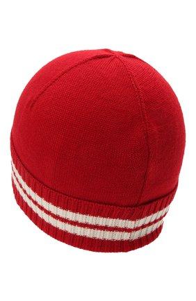 Детского шапка MONCLER красного цвета, арт. G2-954-9Z734-20-A9630 | Фото 2