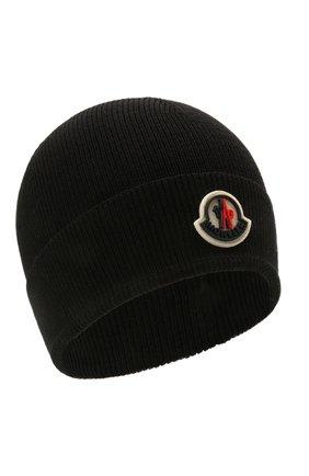Детского шапка MONCLER черного цвета, арт. G2-954-9Z731-00-A9632 | Фото 1