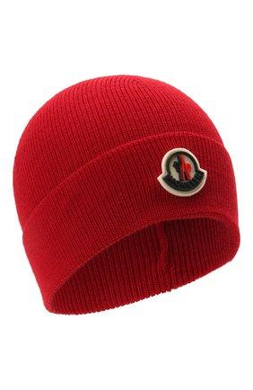 Детского шапка MONCLER красного цвета, арт. G2-954-9Z731-00-A9632 | Фото 1
