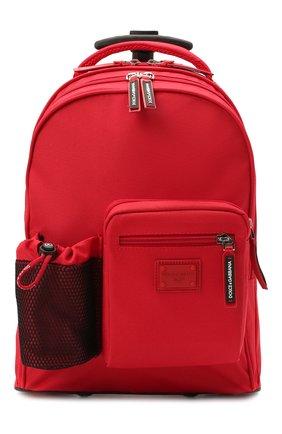 Детский чемодан DOLCE & GABBANA красного цвета, арт. EM0057/AT994   Фото 1 (Материал: Текстиль)