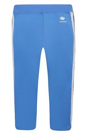 Детские брюки DSQUARED2 голубого цвета, арт. DQ0307-D003S | Фото 2