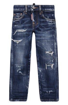 Детские джинсы DSQUARED2 синего цвета, арт. DQ03NP-D007S | Фото 1