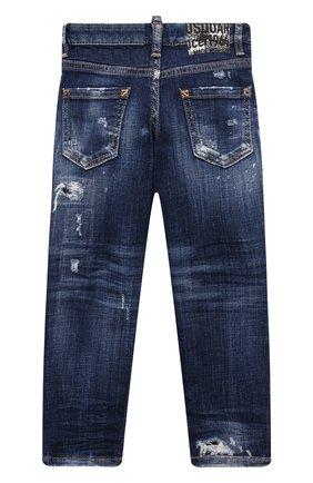 Детские джинсы DSQUARED2 синего цвета, арт. DQ03NP-D007S | Фото 2