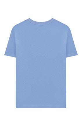 Детская хлопковая футболка POLO RALPH LAUREN голубого цвета, арт. 323850990 | Фото 2 (Рукава: Короткие; Материал внешний: Хлопок; Ростовка одежда: 13 - 15 лет | 158 см, 10 - 11 лет | 140 - 146см, 9 лет | 134 см, 16 лет | 164 см)