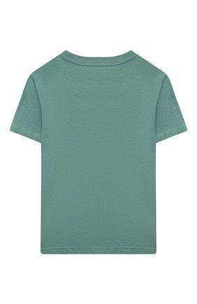 Детская хлопковая футболка POLO RALPH LAUREN зеленого цвета, арт. 321850990 | Фото 2