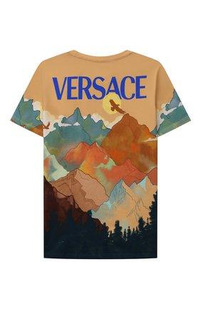 Детская хлопковая футболка VERSACE разноцветного цвета, арт. 1000129/1A00427/4A-6A | Фото 2