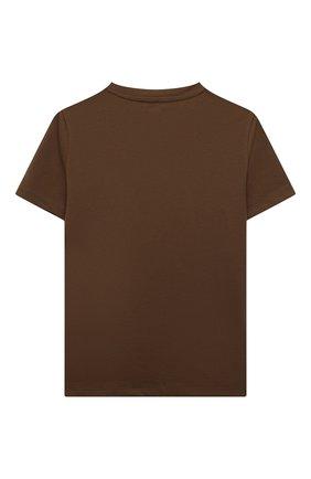 Детская хлопковая футболка VERSACE хаки цвета, арт. 1000239/1A01330/4A-6A | Фото 2