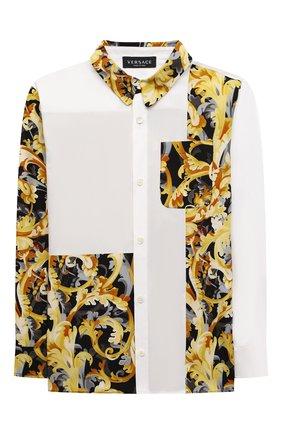 Детская хлопковая рубашка VERSACE белого цвета, арт. 1000428/1A01345/8A-14A | Фото 1