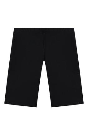 Детские шорты VERSACE черного цвета, арт. 1000431/1A01407/8A-14A | Фото 2 (Материал внешний: Синтетический материал; Девочки Кросс-КТ: Шорты-одежда, Шорты-спорт)