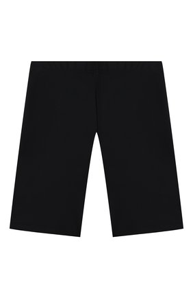 Детские шорты VERSACE черного цвета, арт. 1000431/1A01407/4A-6A   Фото 2 (Материал внешний: Синтетический материал; Девочки Кросс-КТ: Шорты-одежда, Шорты-спорт)