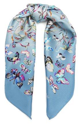Женский шелковый платок butterfly RADICAL CHIC голубого цвета, арт. 280032.21.15 | Фото 1